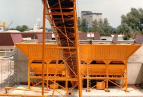 1990 Nouvelle centrale à béton sur le site de recyclage d'Helmond