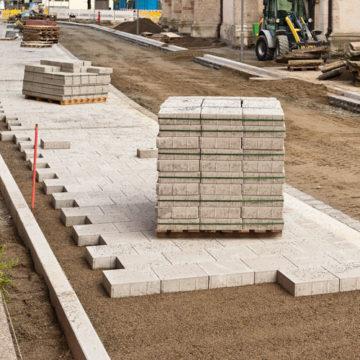 Construction de route right
