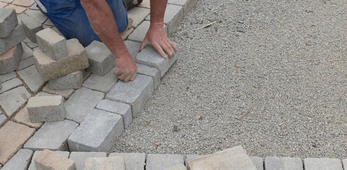 gestabiliseerd zand; straatwerken