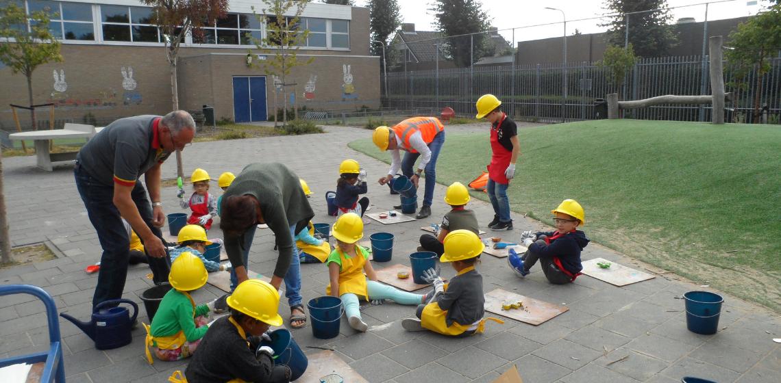 Beton; kinderen ; workshop