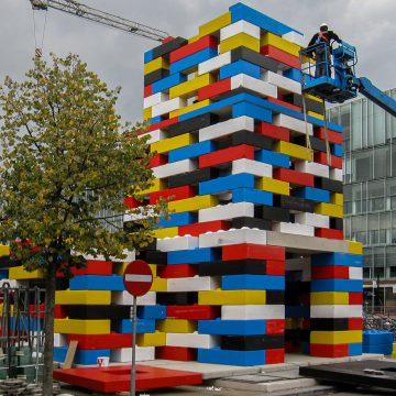 Gekleurde blokken van beton